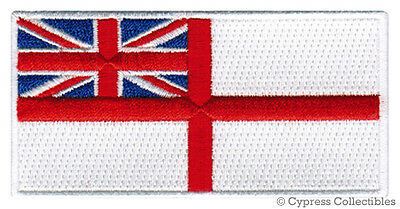 BRITISH ROYAL NAVY ENSIGN FLAG PATCH embroidered iron-on England Britain UK new