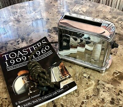 Waters Gentler 1A4 Toaster Deco 1939 Toaster With Collector Book