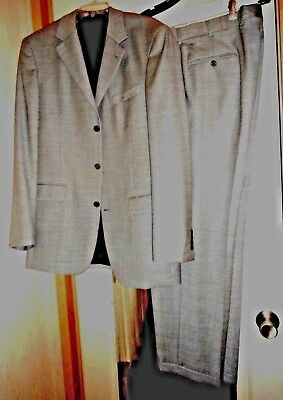 Perfect New Gray 3-Button Wool Suit / Andrew Fezza   40 40L   34X30