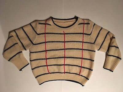 Womens Vintage Cropped Sweater