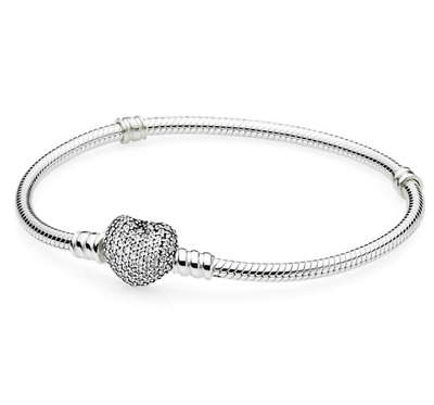 Fashion 925 Silver Zircon Heart Bangle With European Charm Bracelet Fit Women !!