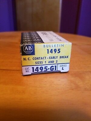 New In Box Allen-Bradley Auxiliary Contact 1495-G1 Series L