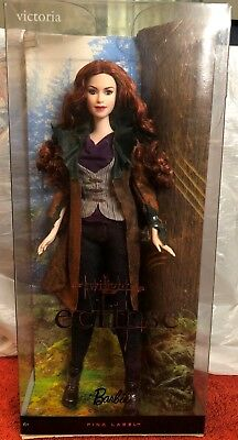 The Twilight Saga Eclipse Victoria Barbie Collector Doll Pink Label-New In Box