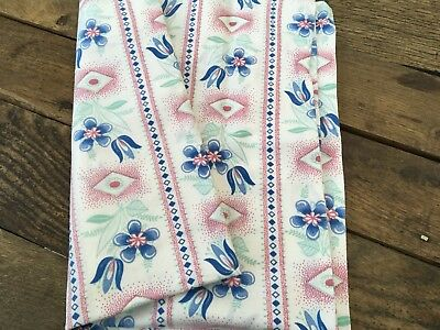 Vintage French Square Large Pillow Case / Fabric Excellent Condition Fabric
