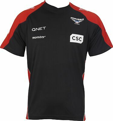 Marussia F1 Mens Supporters T-Shirt Black Formula One Short Sleeve Top XS S