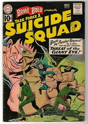 DC Comics FN- BRAVE & THE BOLD  #37 Suicide squad Threat  giant Eye TASK FORCE X