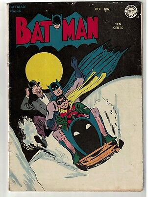 Batman 26 Golden age Alfred back up story VG- 3.0 Bat Sled 1945