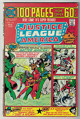 DC Comics JUSTICE LEAGUE OF AMERICA The World's Greatest Superheroes No 116 VG/F