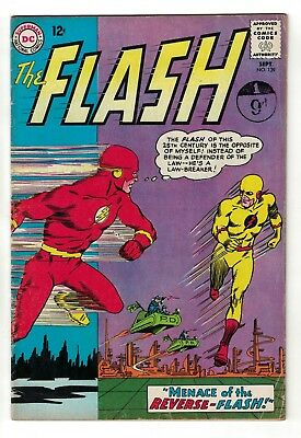 DC COMICS FLASH 1st Reversed 1963 silver age FN- 5.0