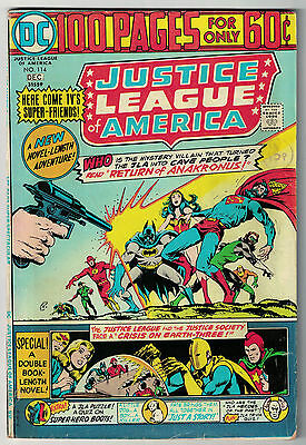DC Comics JUSTICE LEAGUE OF AMERICA The World's Greatest Superheroes No 114 VG/F