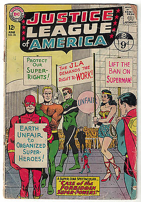 DC Comics JUSTICE LEAGUE OF AMERICA The World's Greatest Superheroes No 28 GD