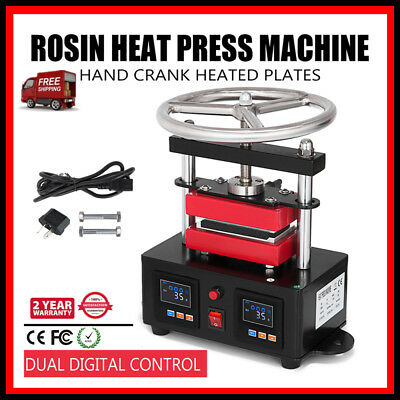 "AU_2000+ PSI Professional Rosin Press Hand Crank Duel Heated Plates 2.4"" x 4.7""@"