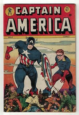 Marvel Timely Comics Captain America Golden age 57 FN 6.0 july 1946 avengers