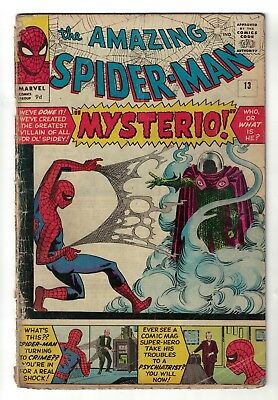 Marvel comics  Amazing Spiderman 13 1st appearance Mysterio vg- 3.0