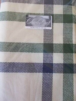 "Cross stitch Fabric  14ct Block  Aida ""Beige, Green , Blue New 45"" x 60"""