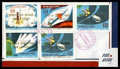 1971 Apollo 13 Retour Combination Sealed Air Mail Fdc