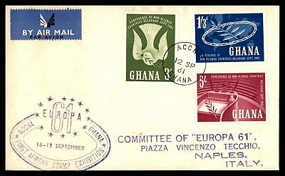 First African Stamp Exhibition Combination Europa 1961 Unsealed Cover