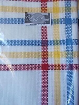 "Cross stitch Fabric  14ct Block  Aida ""Red Yellow Blue New 45"" x 60"""