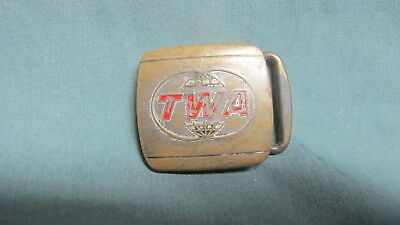 Vintage  TWA Trans World Airlines Hickok BELT Buckle