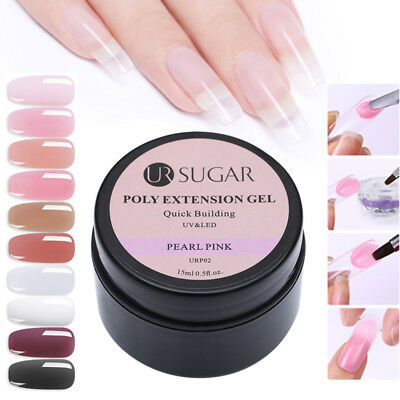 UR SUGAR 15ml Quick Poly Builder Smalto Gel UV LED Nail Tips Extension