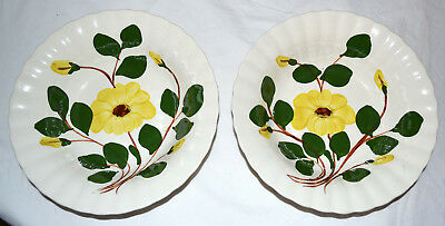 2 Vintage Blue Ridge Mountain Glory Nocturne Yellow Daisy Vegetable Serving Bowl