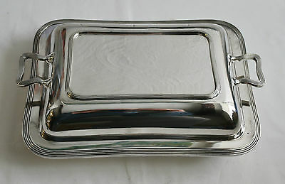 Antique Silver Plated Cushion-Form Entree Dish - William Hutton & Sons