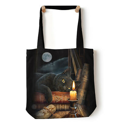 "The Mountain The Witching Hour Cat Tote Bag 18"" x 18"", Reusable Eco Shopping Bag"