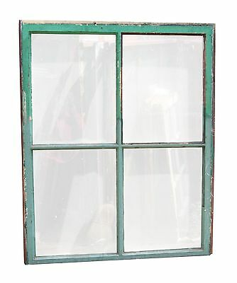 Four Panel Wood Frame Window with Vintage Glass