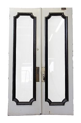 Tall Double Swing Doors with Full Glass Panel