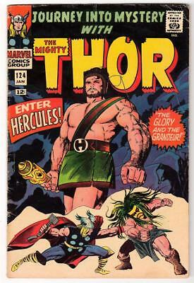 Marvel Comics  VG+ 4.5   THOR  #124 1965 AVENGERS  HERCULES BATTLE