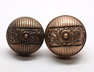 Antique Bronze Italian Renaissance Entry Knob Set