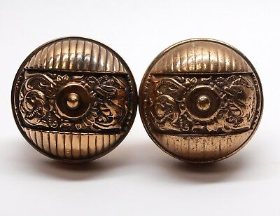 Antique Polished Bronze Italian Renaissance Door Knob Set
