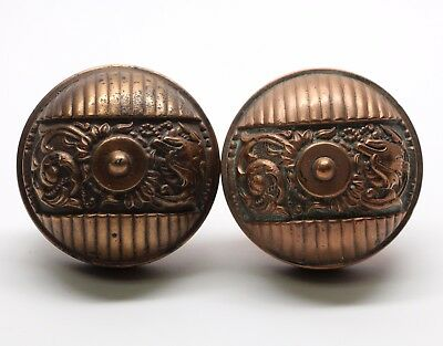 Antique Italian Renaissance Bronze Door Knob Set