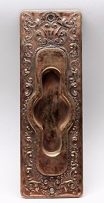 Antique French Pressed Brass Pocket Door Plate