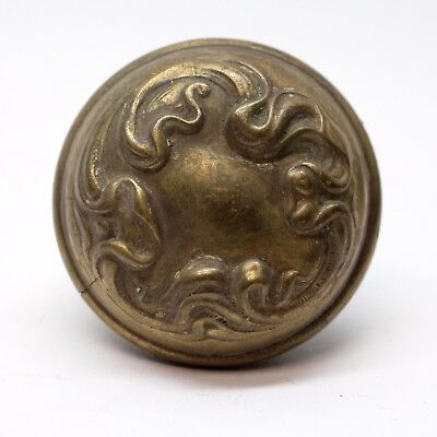 Antique Sargent Art Nouveau Brass Asymmetrical Knob