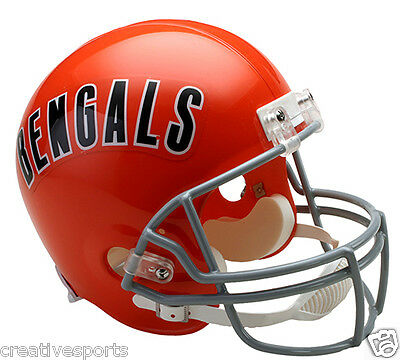 71009e54b Cincinnati Bengals Throwback 1968-1979 Full Size Riddell Football Helmet