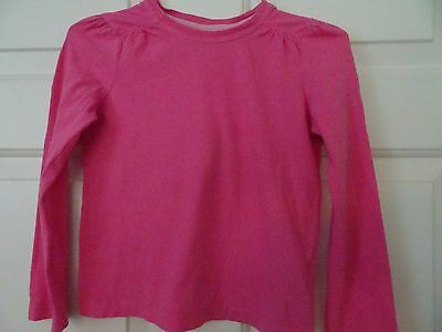 Faded Glory Girls Size 6-6X Pink L. Sleeve Cotton Top/shirt