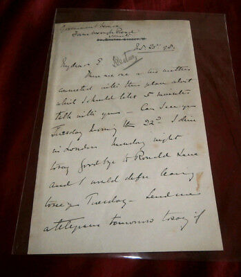 General Sir Redvers Buller Vc Signed Letter. 1892. With Book: Buller's Campaign.