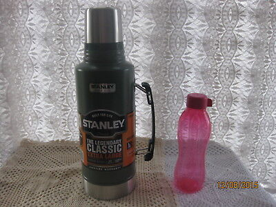 % 1.9L STANLEY DRINKS FLASK STAINLESS STEEL NEW .9 LITRE THERMOS BLACK+ Gift~£8
