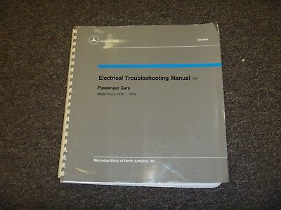 1975 mercedes benz 230 240d 300d electrical wiring diagram manual