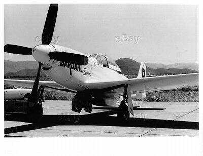 Vintage Aircraft Photo P-51 Mustang Ww2 Post War Racer Racing Bardahl Specical