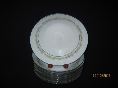 """Eight (8) Noritake Trilby 7 1/2"""" Soup/salad Bowls  {Clearance}"""