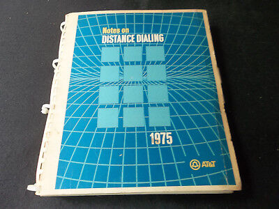 AT&T manual 1975 Notes On Distance Dialing phone company manual collectible