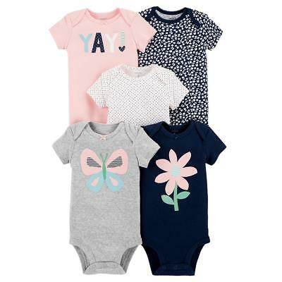 Carter's 5-Pack Bodysuits - Grey, 18 Months