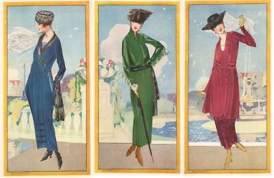 Antique 1919 McCall Foldout Advertisement for Dressmaking Patterns Gorgeous!