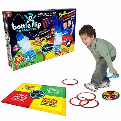 54 Bottle Flip Board Game 18pc Piece Kids Family Xmas Gift Present 2-6 Players