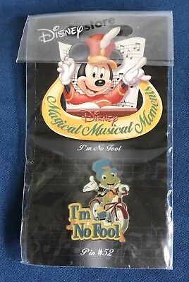 Disney Store Magical Musical Moments I'm No Fool Jiminy Cricket Pin 52