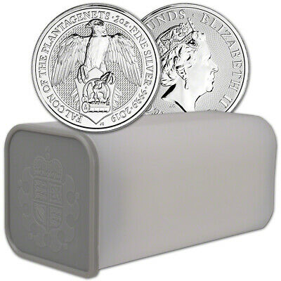 2019 Great Britain Silver Beasts Falcon £5 - 2 oz - 1 Roll 10 Coins in Mint Tube
