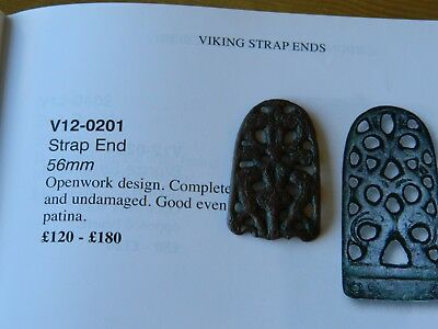 Anglo Saxon bronze zoomorphic beasts entwined strap end metal detecting detector