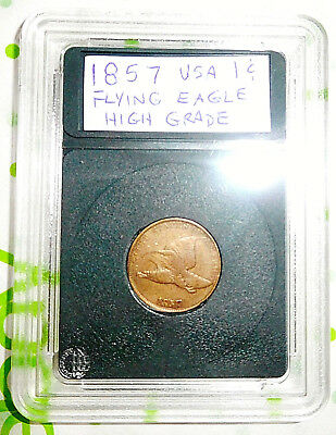 1857 Flying Eagle Cent 1c High Grade Only 3 Years Minted Early Copper Coin EF XF